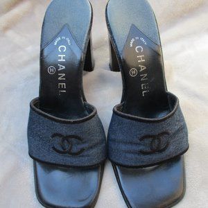 CHANEL Shoes - CHANEL ~ SLIDES / MULES / SANDALS ~ 7.5 ~ ITALY